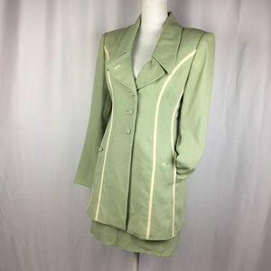 VTG 60s 2pc Dress Suit Skirt Mint Fred Hayman